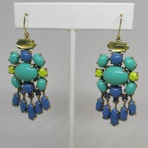 Stella & Dot earrings green blue turquoise